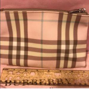 Authentic Vintage Burberry Nova Pink cosmetic bag